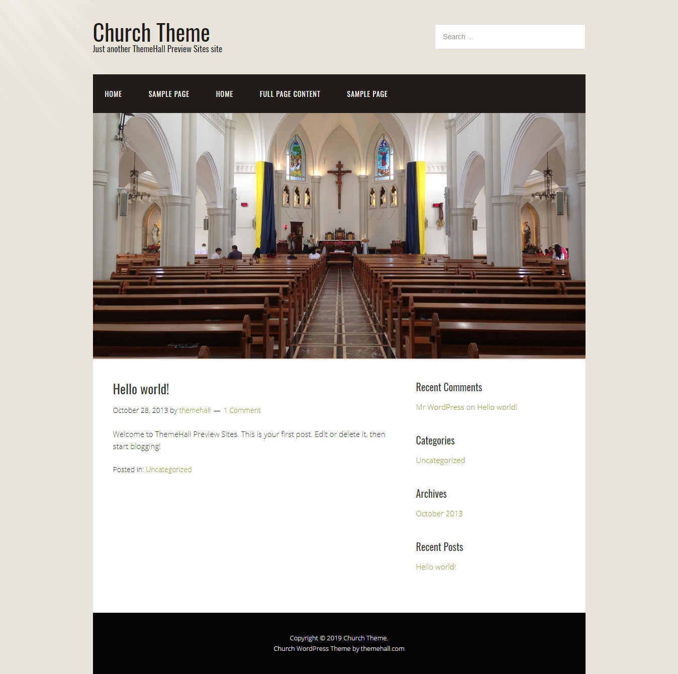 church best free church wordpress theme - 10+ Best Free WordPress Church Themes