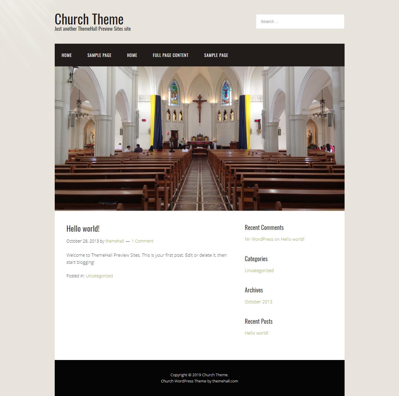 church best free church wordpress theme - 10+ Best Free WordPress Church Themes
