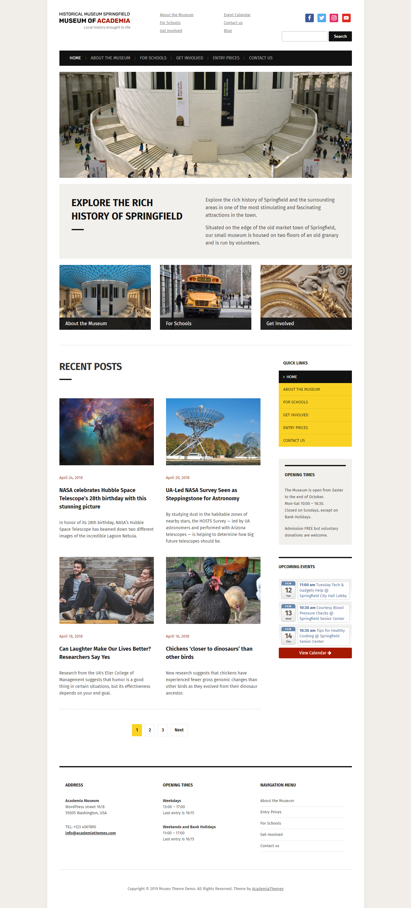 museo best free church wordpress theme - 10+ Best Free WordPress Church Themes