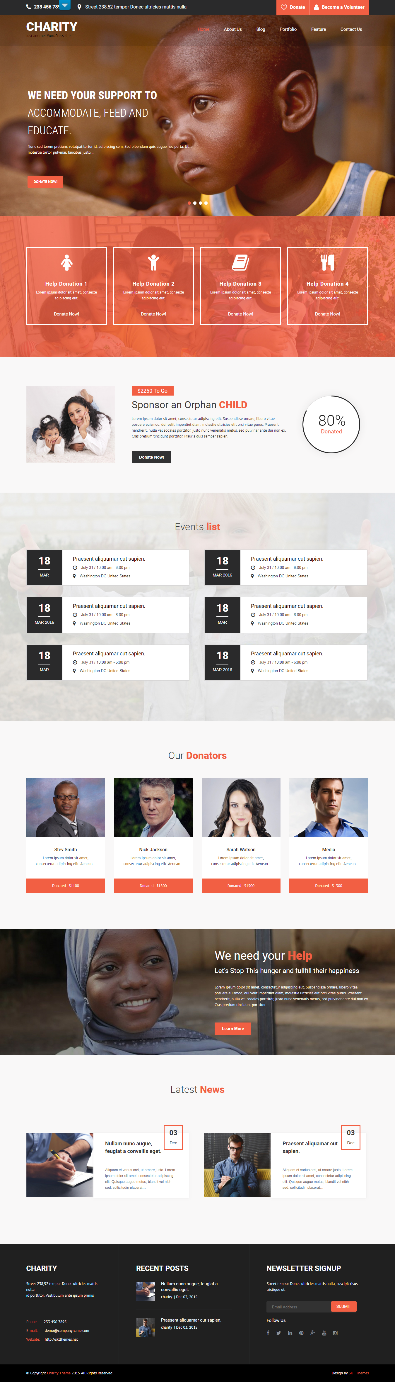 skt charity best free church wordpress theme - 10+ Best Free WordPress Church Themes