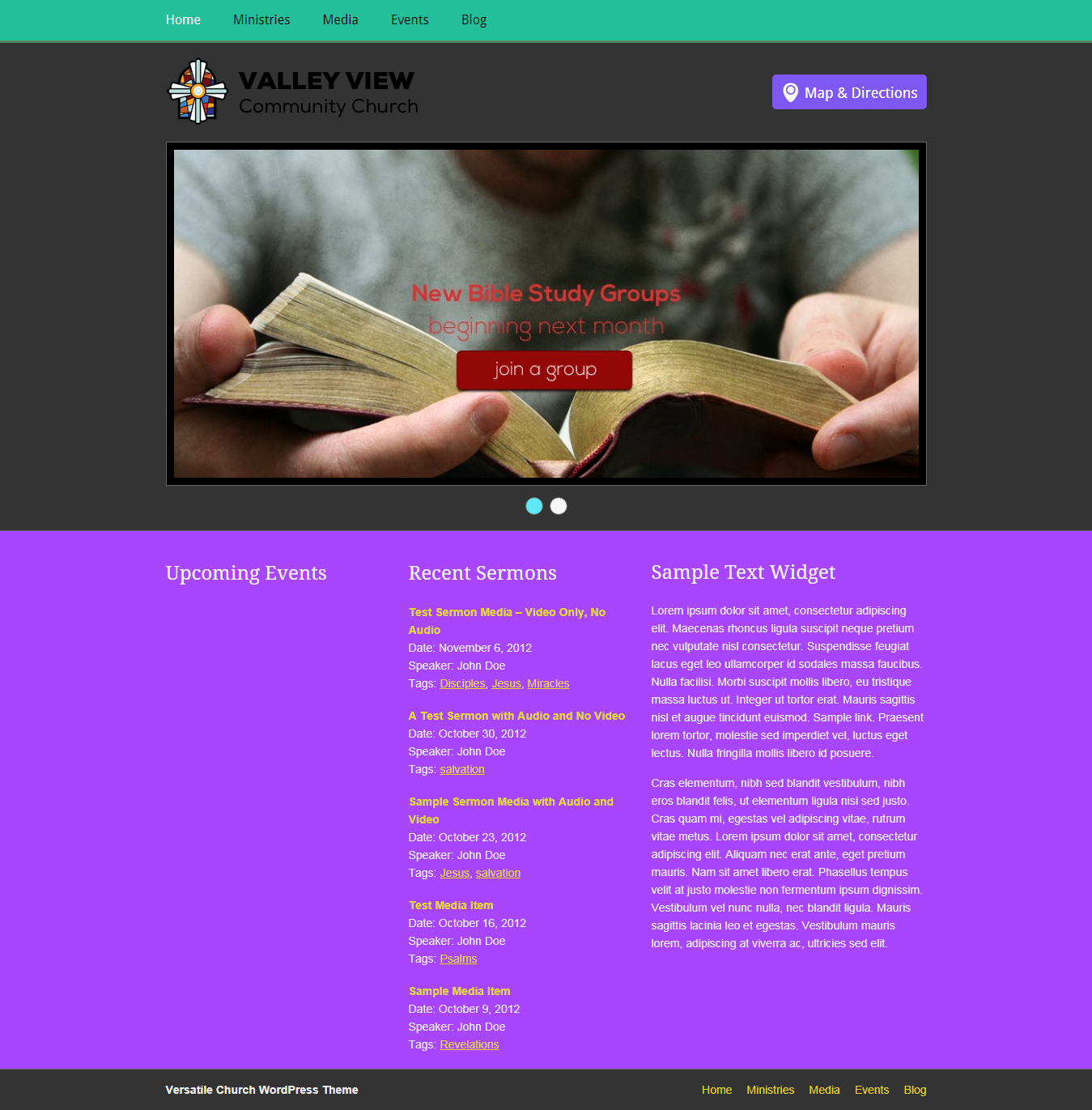 versatile best free church wordpress theme - 10+ Best Free WordPress Church Themes