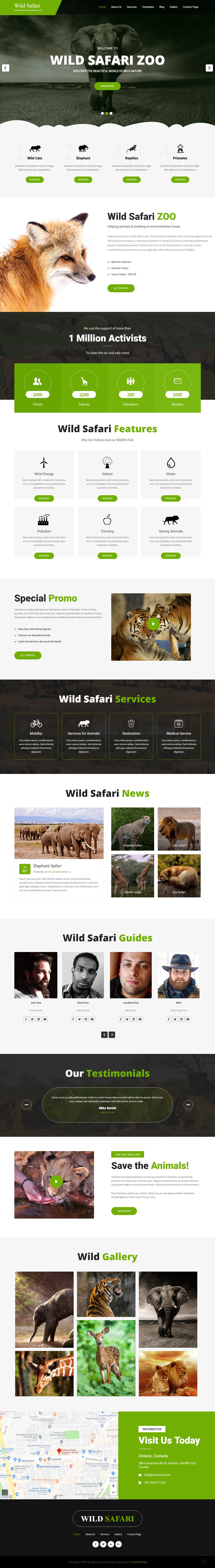 Wild Safari - Best Free Animal and Pet WordPress Theme