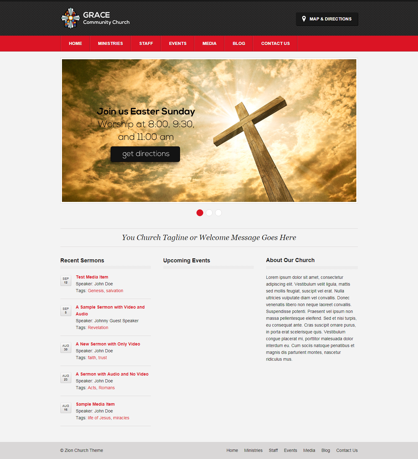 zion best free church wordpress theme - 10+ Best Free WordPress Church Themes