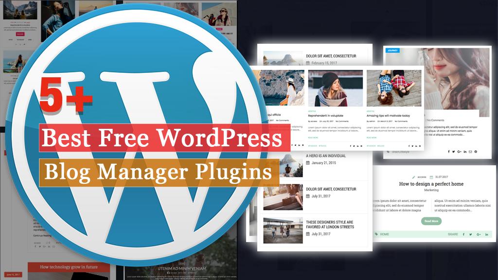 Free WordPress Blog Manager Plugins