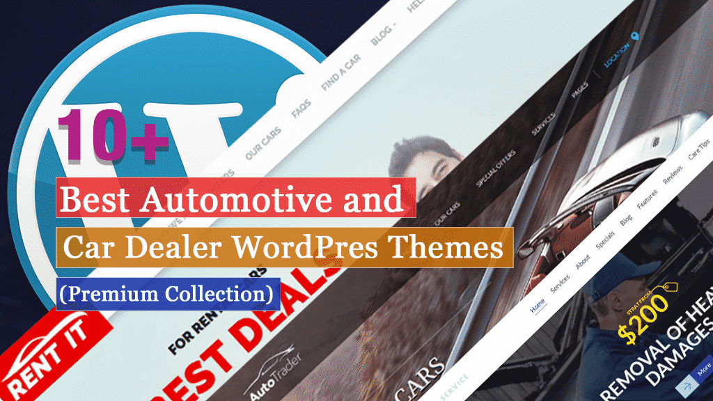 10+ Best Automotive and Car Dealer WordPress Themes (Premium Collection)