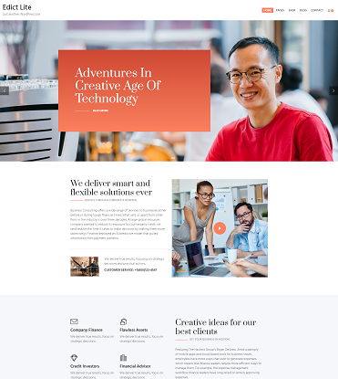 Edict Lite – Eight Degree Innovative Corporate Theme Lite