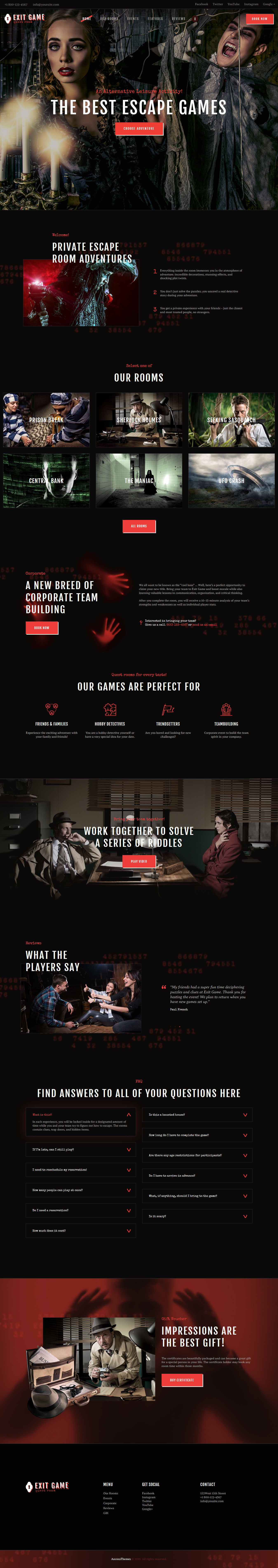 Exit Game – Best Premium Gaming WordPress Theme