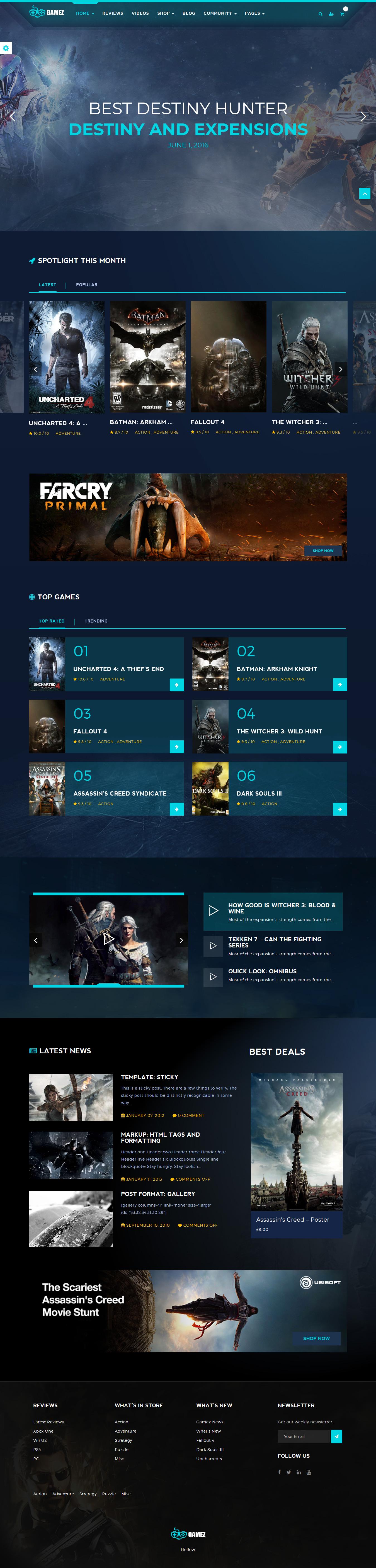 Gamez – Best Premium Gaming WordPress Theme