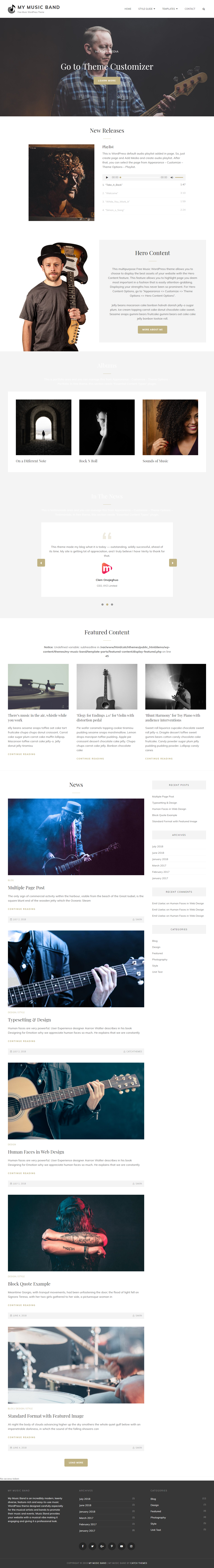 my music band best free video and music wordpress theme - 10+ Best Free Video and Music WordPress Themes