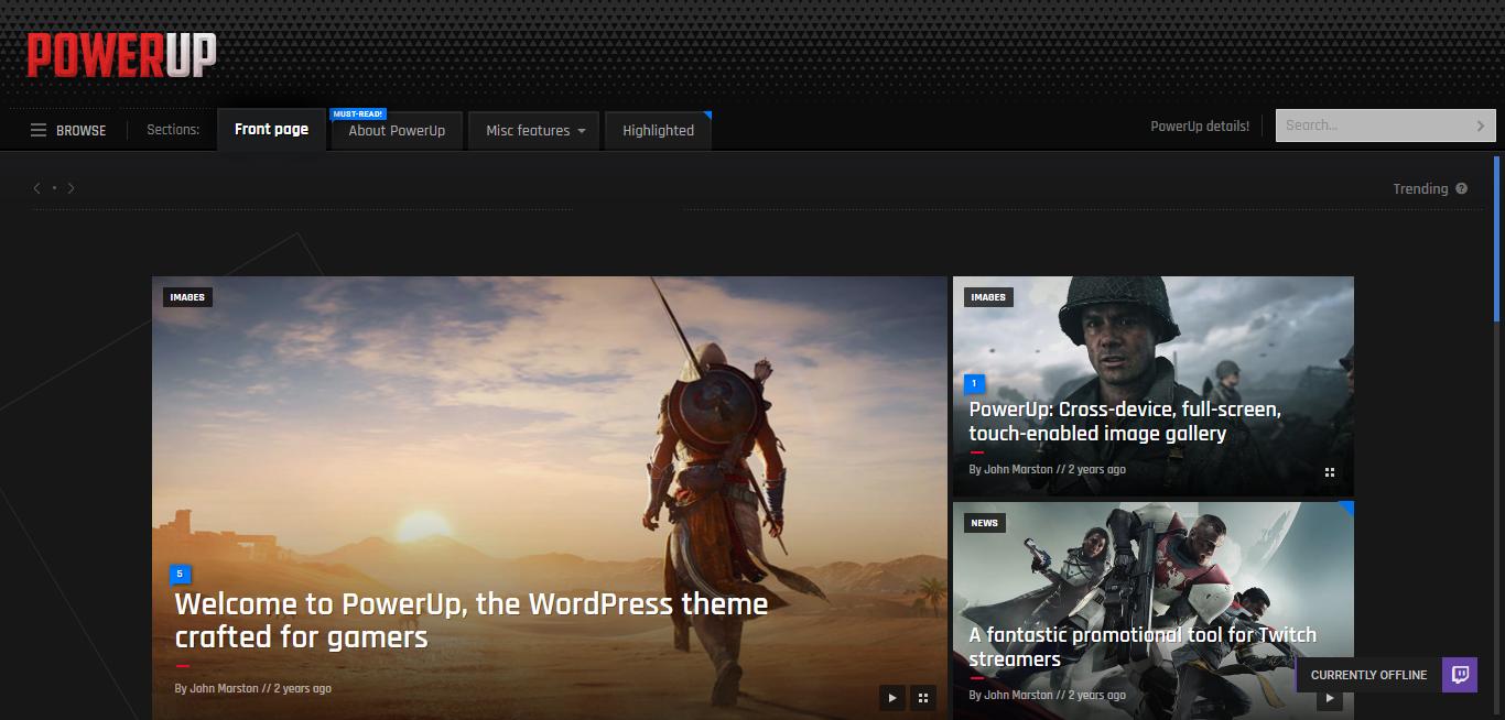 Powerup – Best Premium Gaming WordPress Theme