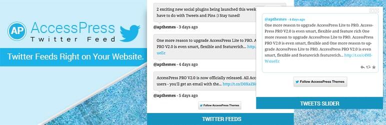 Best Free WordPress Twitter Feed Plugins: AccessPress Twitter Feed