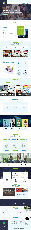 Advance IT Company - Best Free Mobile App WordPress Theme