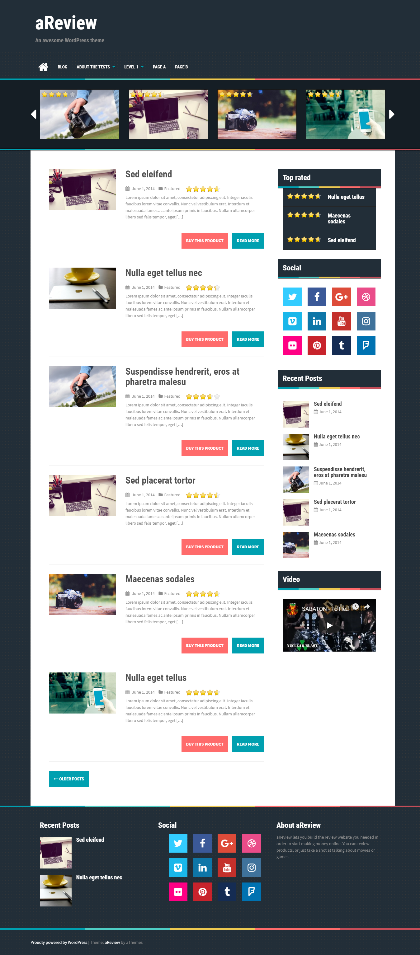 aReview - Best Free Review WordPress Theme