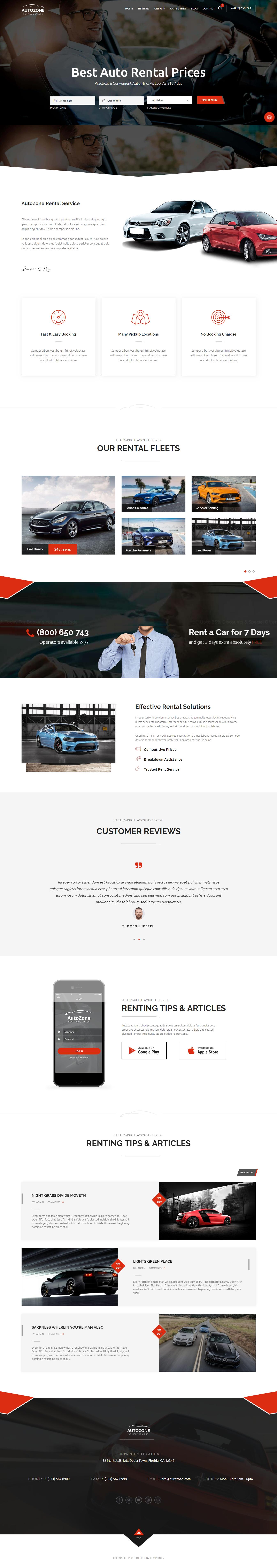 AutoZone - Best Premium Automobile WordPress Theme