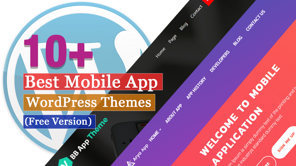 10+ Best Free Mobile App WordPress Themes - 2021