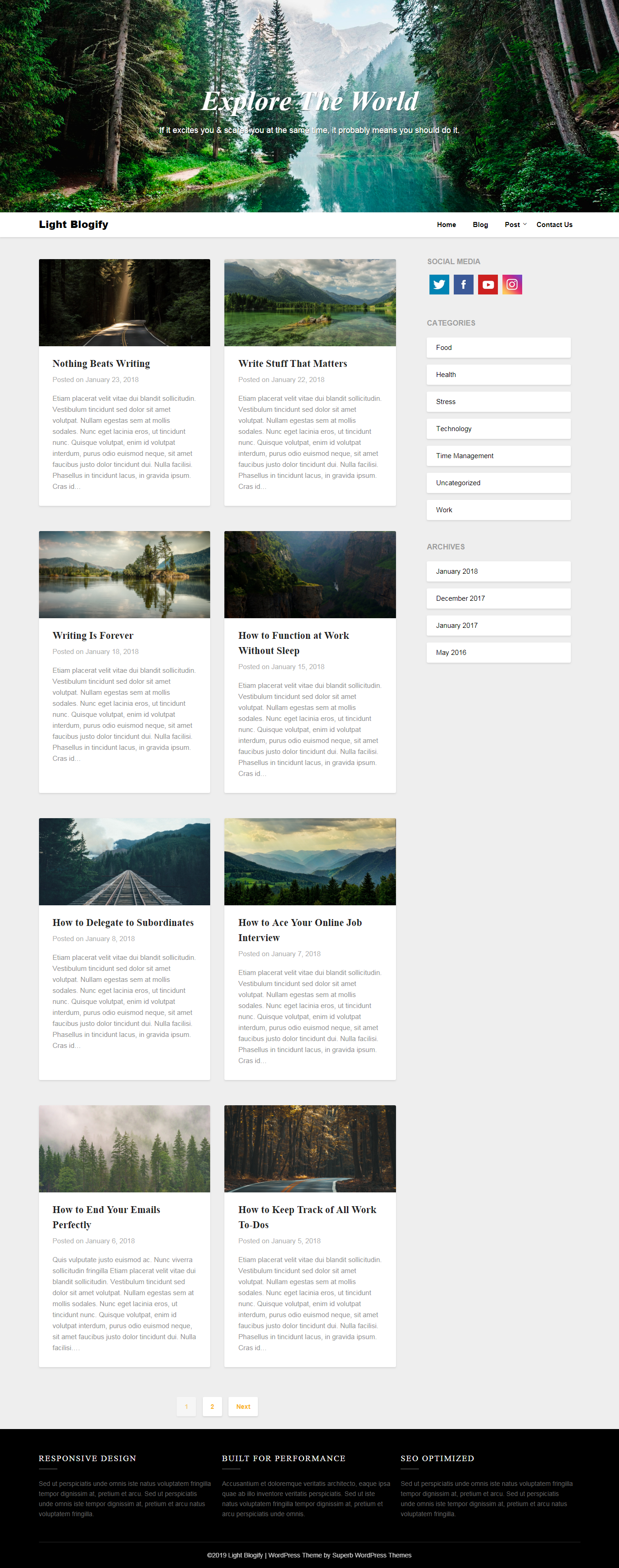 Light Blogify - Best Free Review WordPress Theme