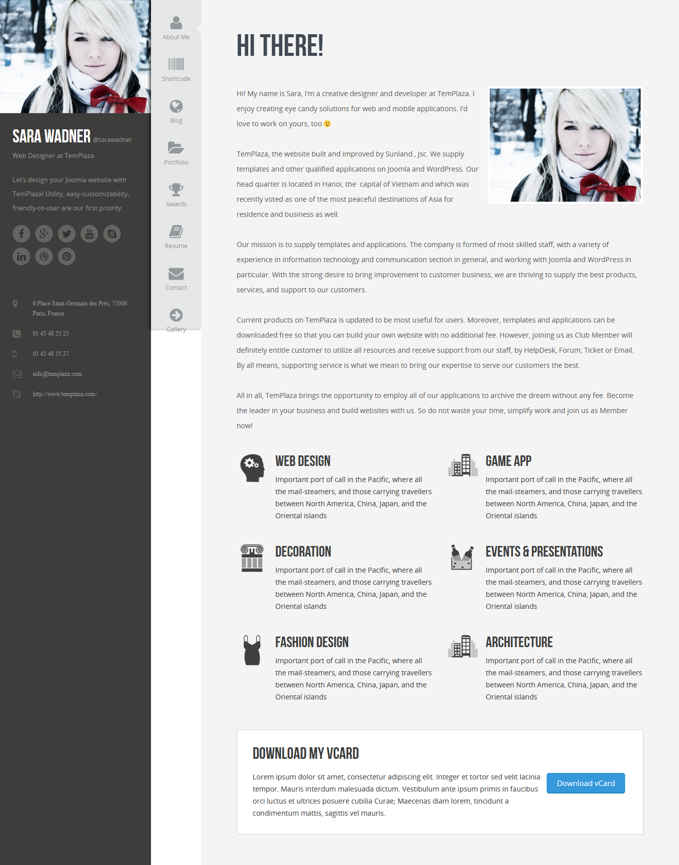 Profiler - Best Premium Resume WordPress Theme