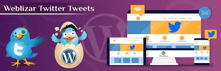 Best Free WordPress Twitter Feed Plugins: Weblizar Twitter Tweets