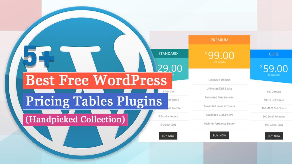 Free WordPress Pricing Tables Plugins