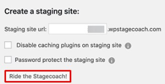 Create a Staging Site for WordPress.