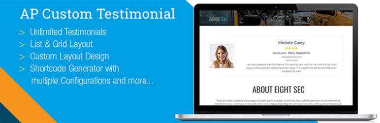 AP Custom Testimonial - Best Free WordPress Testimonial Plugins