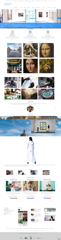 ArtGallery - Best Free Gallery WordPress Theme
