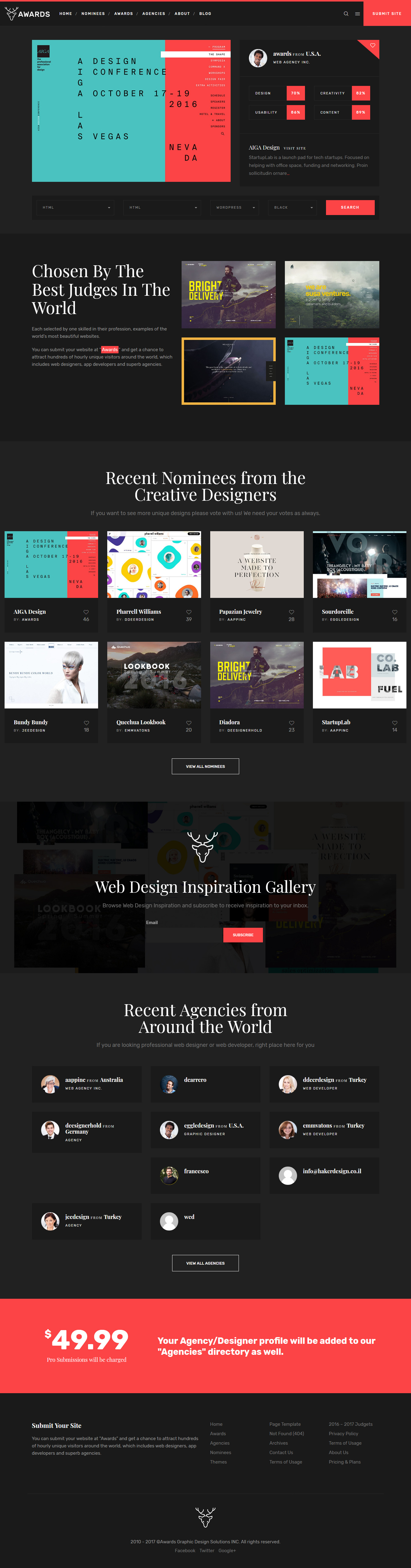 Awards - Best Premium Gallery WordPress Theme
