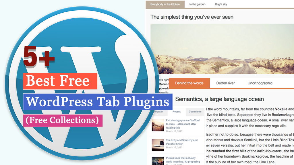 Free WordPress Tab Plugins