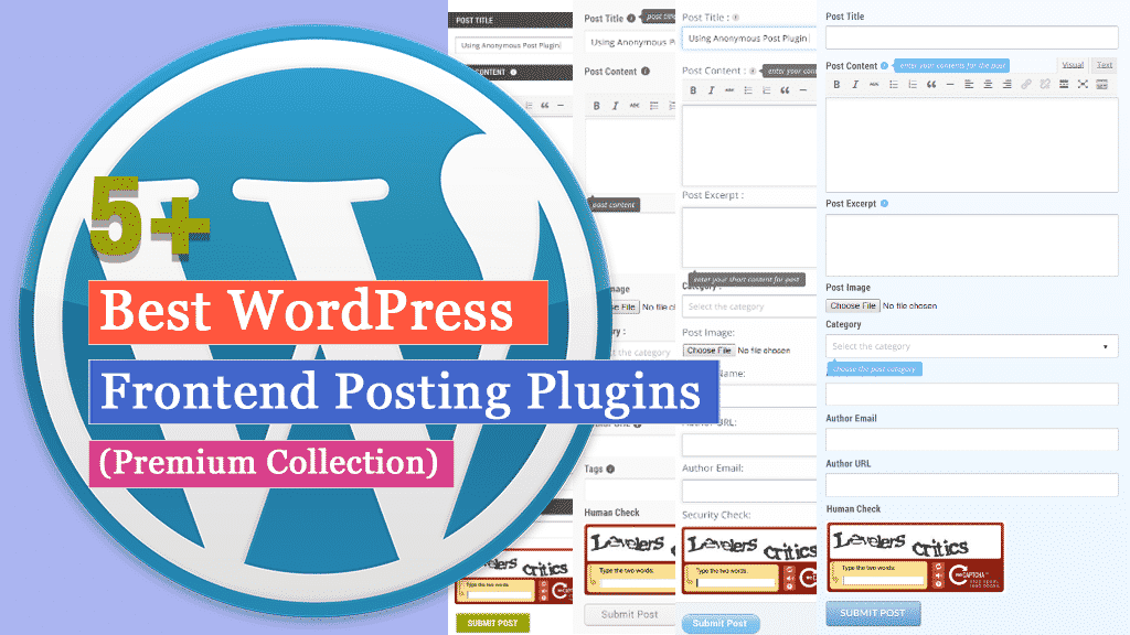 Best WordPress Frontend Posting Plugins