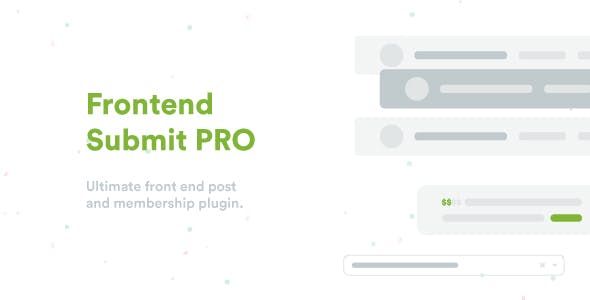 Frontend Submit Pro