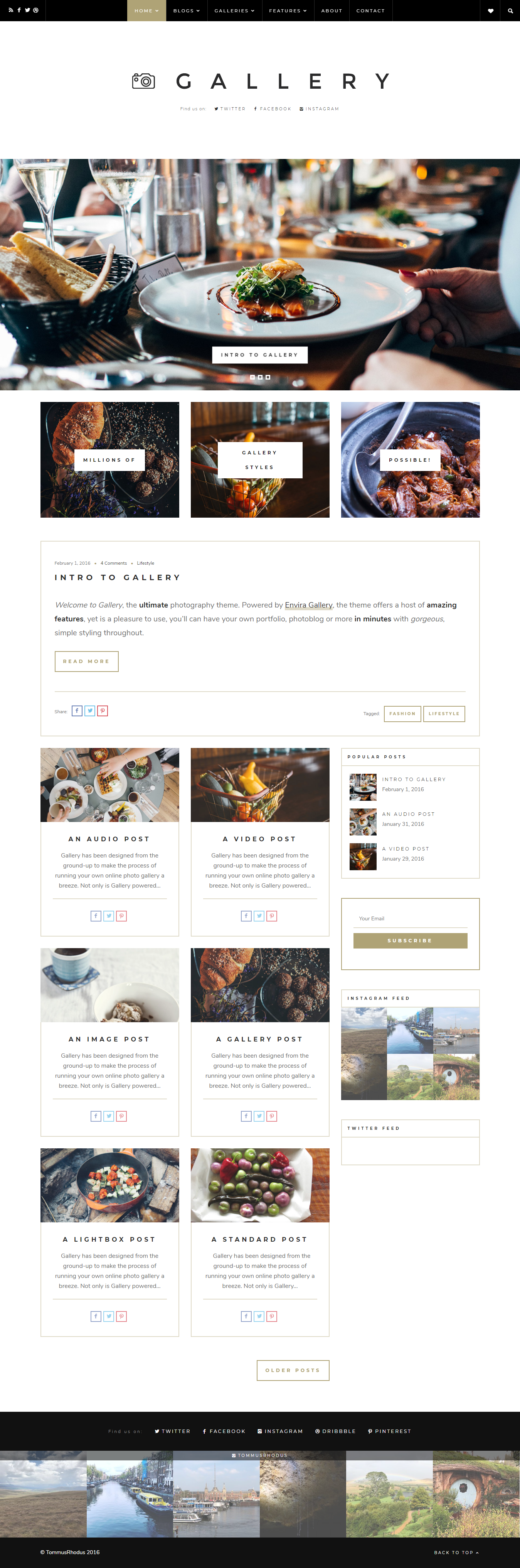 Gallery - Best Premium Gallery WordPress Theme