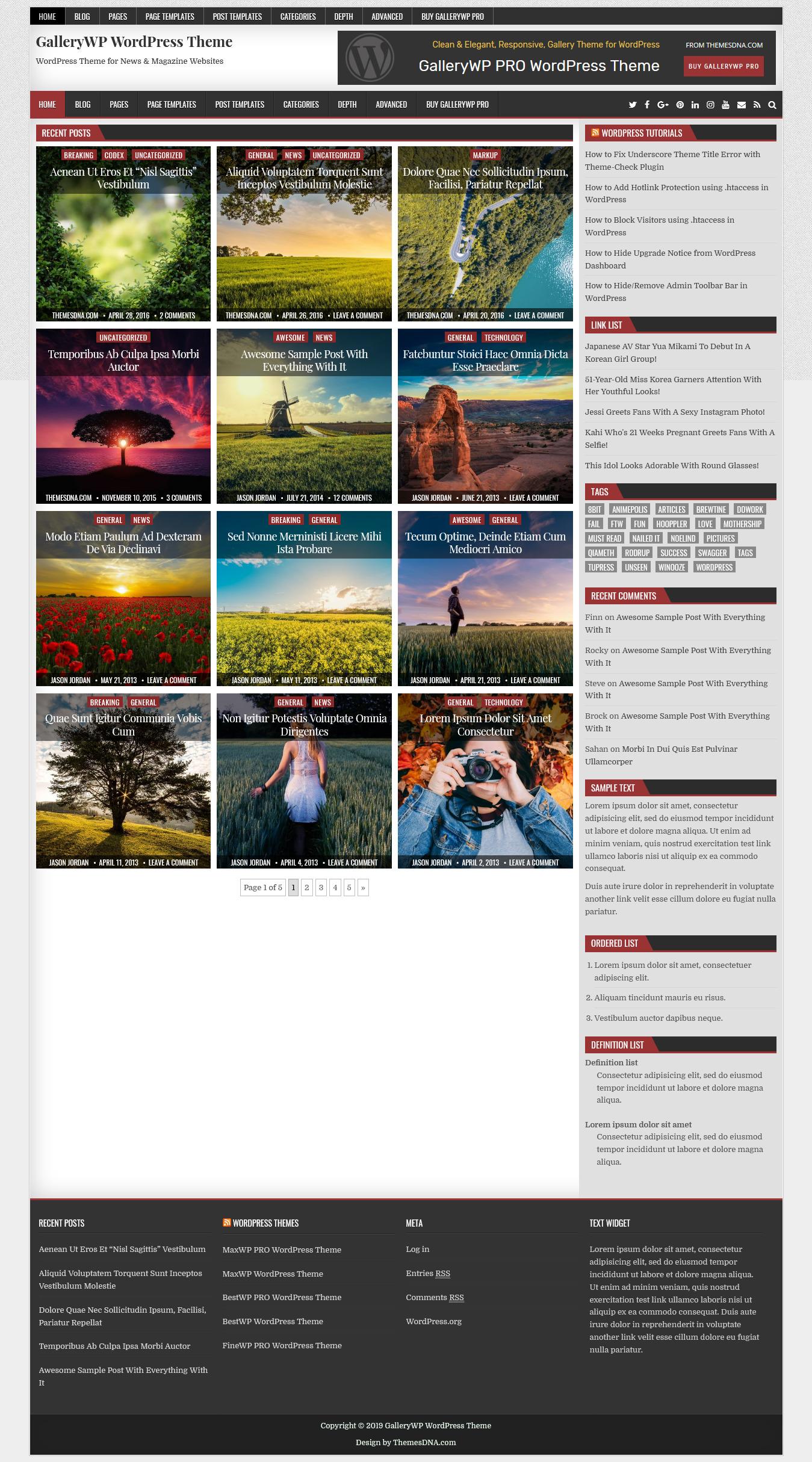 GalleryWP - Best Free Gallery WordPress Theme
