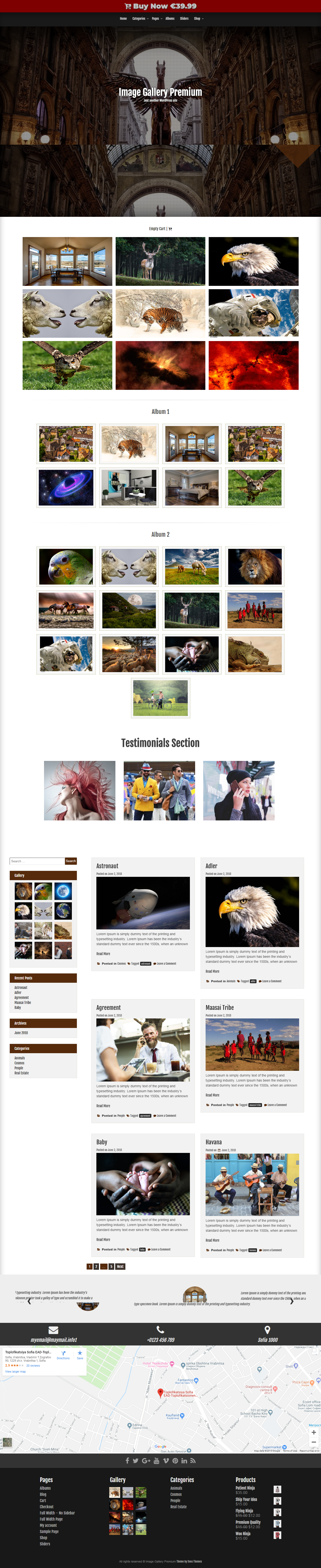 Image Gallery - Best Free Gallery WordPress Theme