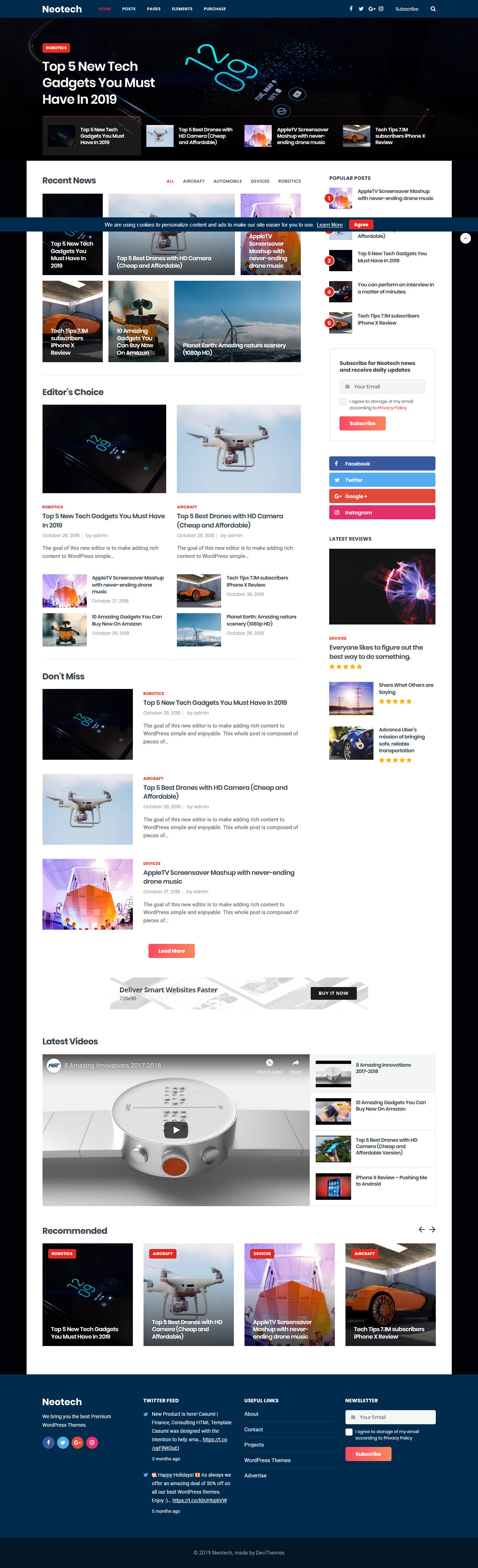 Neotech - Best Premium Elementor WordPress Theme