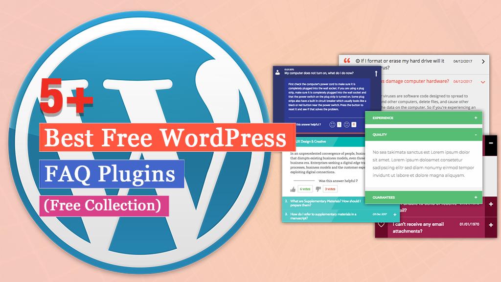 5+ Best Free WordPress FAQ Plugins