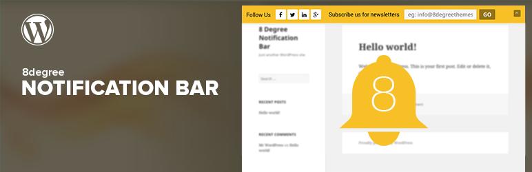 8Degree Notification Bar Best Free WordPress Notification Bar Plugin