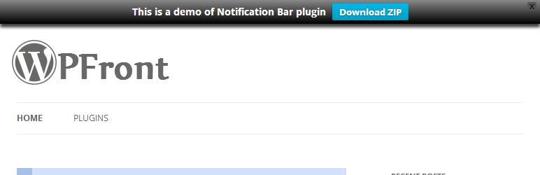 WPFront Notification Bar Best Free WordPress Notification Bar Plugin