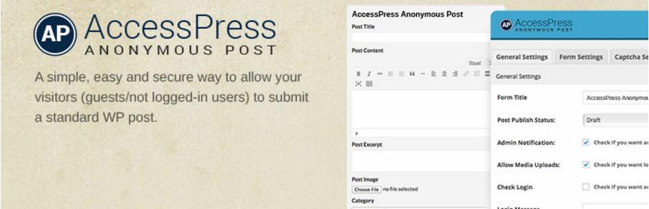 AccessPress Anonymous Post - Best Free Frontend Post WordPress Plugins
