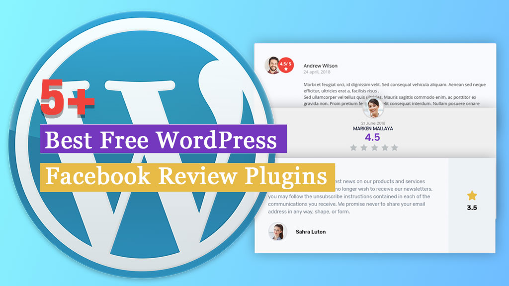 Free WordPress Facebook Review Plugins