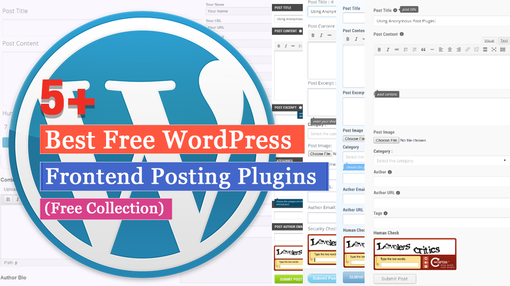 Free Frontend Post WordPress Plugins