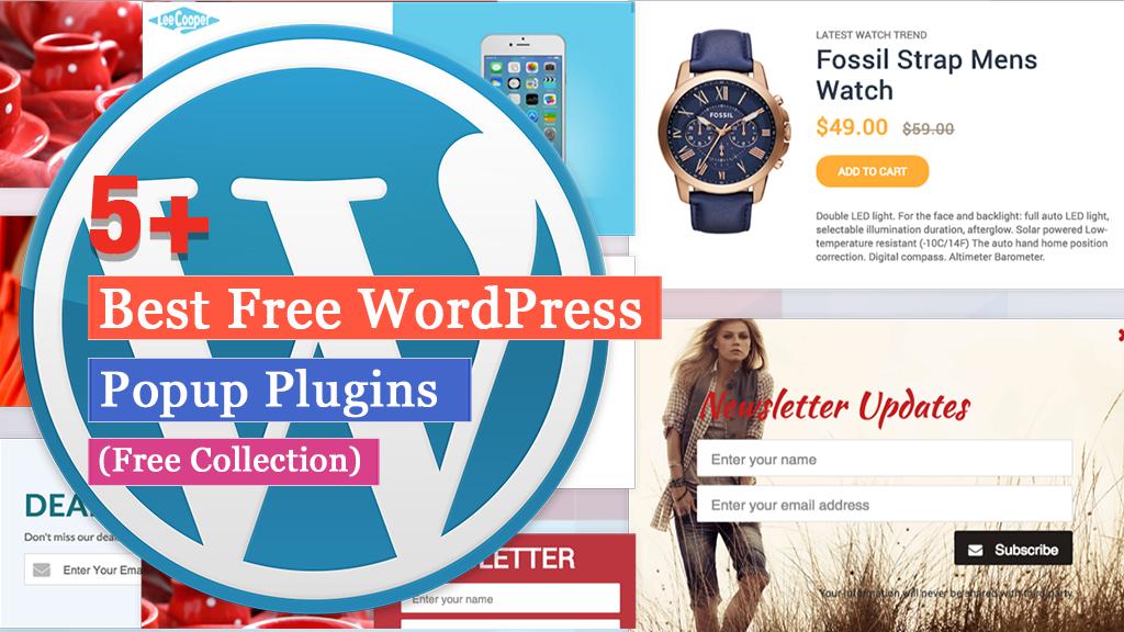 Free WordPress Popup Plugins