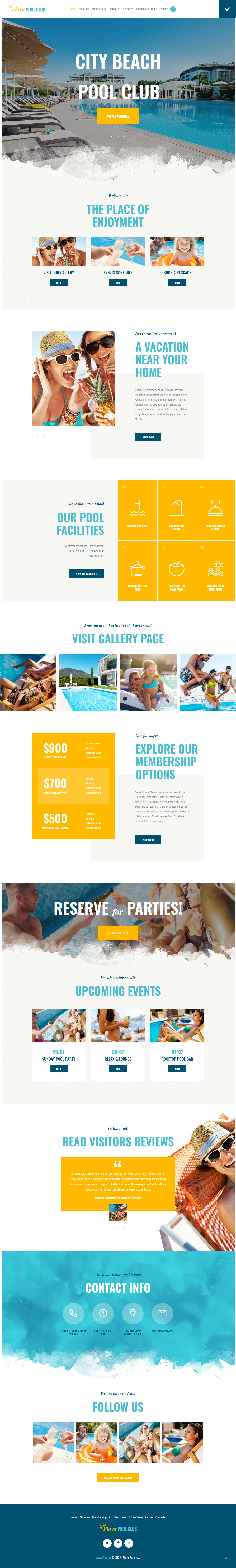 Playa - Best Premium Outdoor Activities WordPress Theme