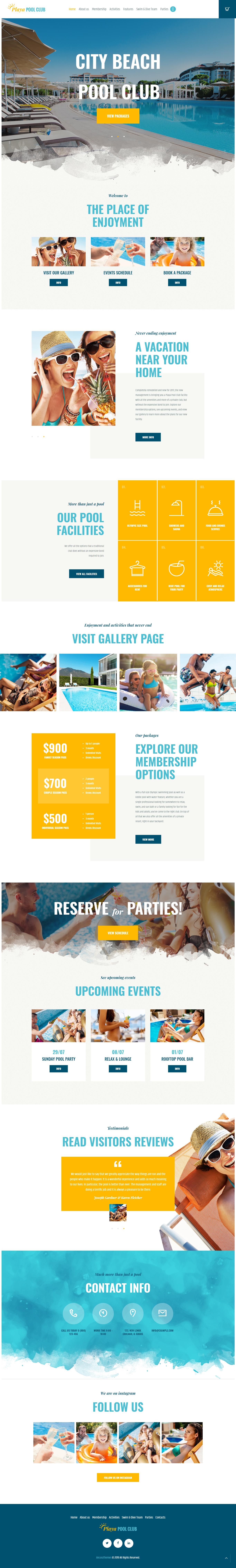Playa - Best Premium Outdoor Activities WordPress Theme