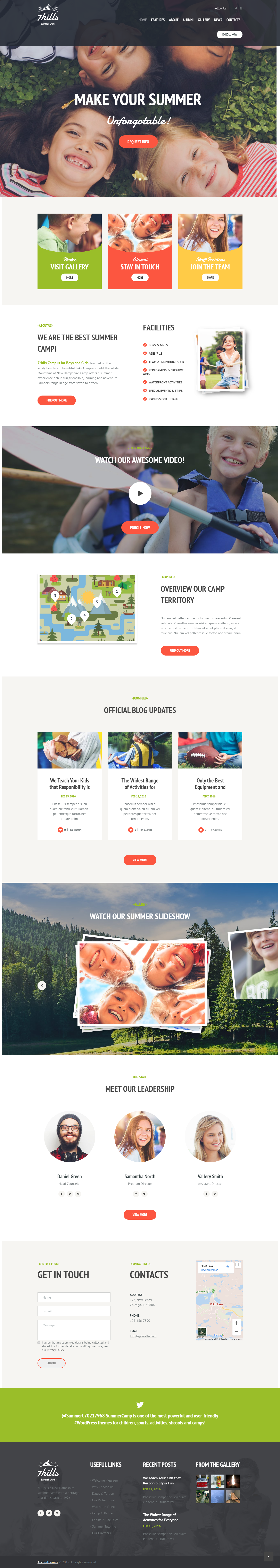 Sevenhills - Best Premium Outdoor Activities WordPress Theme