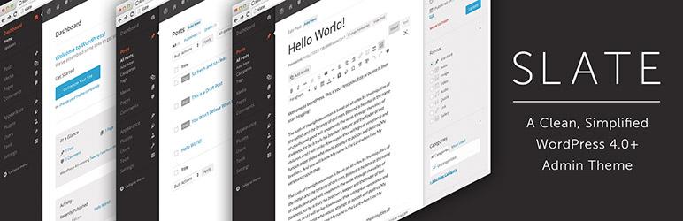 Slate Admin Theme – Best Free WordPress Backend Customizer Plugin