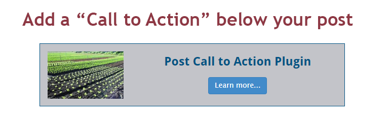 Post Call to Action