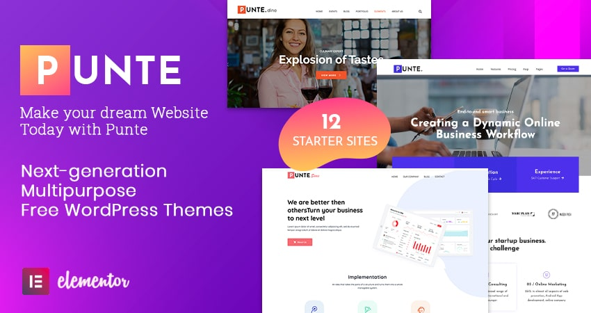 Free Multipurpose WordPress Theme - Punte
